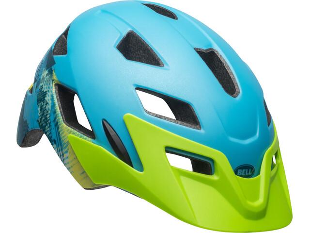 Bell Sidetrack Kypärä Lapset, matte blue/bright green